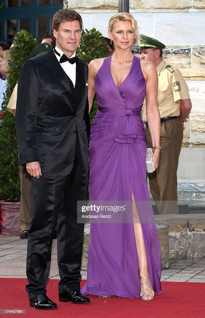 Carsten Maschmeyer and Veronica Ferres attend Bayreuth Festival Opening 2013 on July 25, 2013 in Bayreuth, Germany.