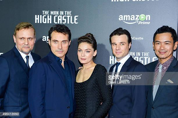 Carsten Norgaard Rufus Sewell Alexa Davalos Rupert Evans and Joel de la Fuente attend the episode screening and premiere for the Amazon Originals...