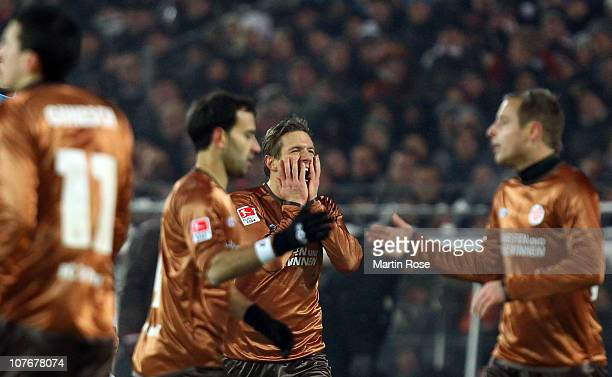 Carsten Rothenbach of St.Pauli looks dejected during the Bundesliga match between FC St. Pauli and FSV Mainz 05 at Millerntor Stadium on December 18,...