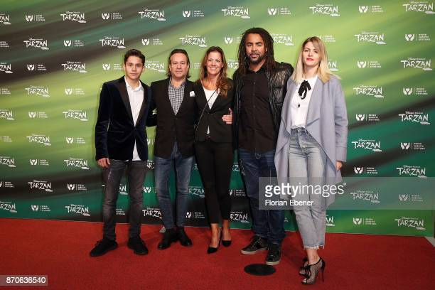 Carsten Schmidt and Patrick Owomoyela attend the anniversary celebration of the musical 'Tarzan at Stage Metronom Theater on November 5 2017 in...