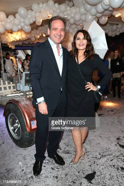 Carsten Schmidt CEO Sky Germany and his wife Nil Schmidt during the PLACE TO B Berlinale party of BILD at Borchardt Restaurant on February 9 2019 in...