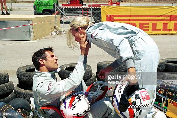 Carsten Spengemann Eve Scheer Star Kart Rennen 2001 Mallorca/Spanien GoKart Helm Overall Reifen