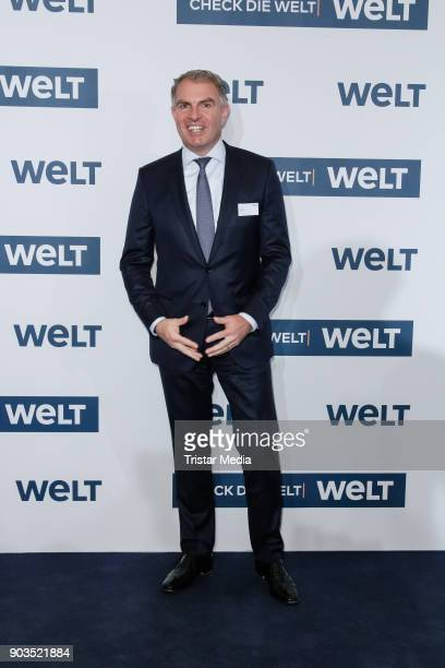 Carsten Spohr attends the 'World Economic Summit ' 2018 on January 10 2018 in Berlin Germany