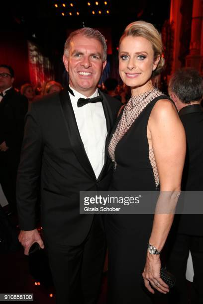 Carsten Spohr CEP of Lufthansa AG and his wife Vivian Spohr during the Semper Opera Ball 2018 at Semperoper on January 26 2018 in Dresden Germany