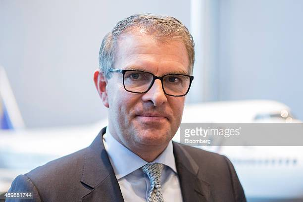 Carsten Spohr chief executive officer of Deutsche Lufthansa AG poses for a photograph during a news conference in Frankfurt Germany on Wednesday Dec...