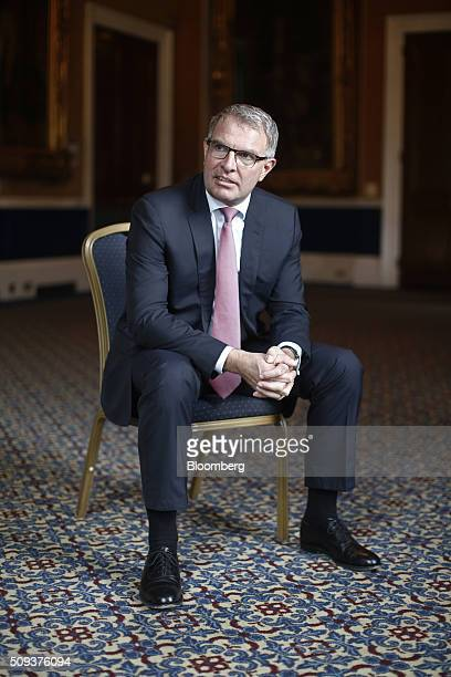 Carsten Spohr chief executive officer of Deutsche Lufthansa AG poses for a photograph during a conference at the Aviation Club in London UK on...