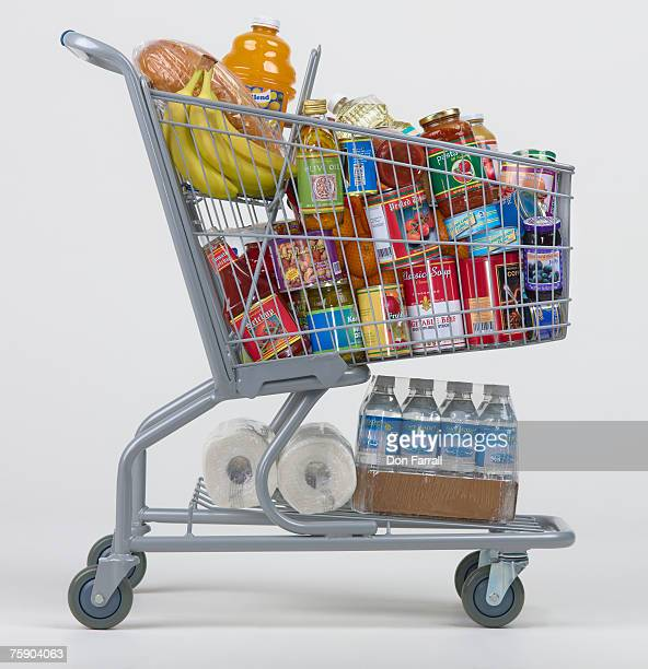 cart full of groceries - full stock pictures, royalty-free photos & images