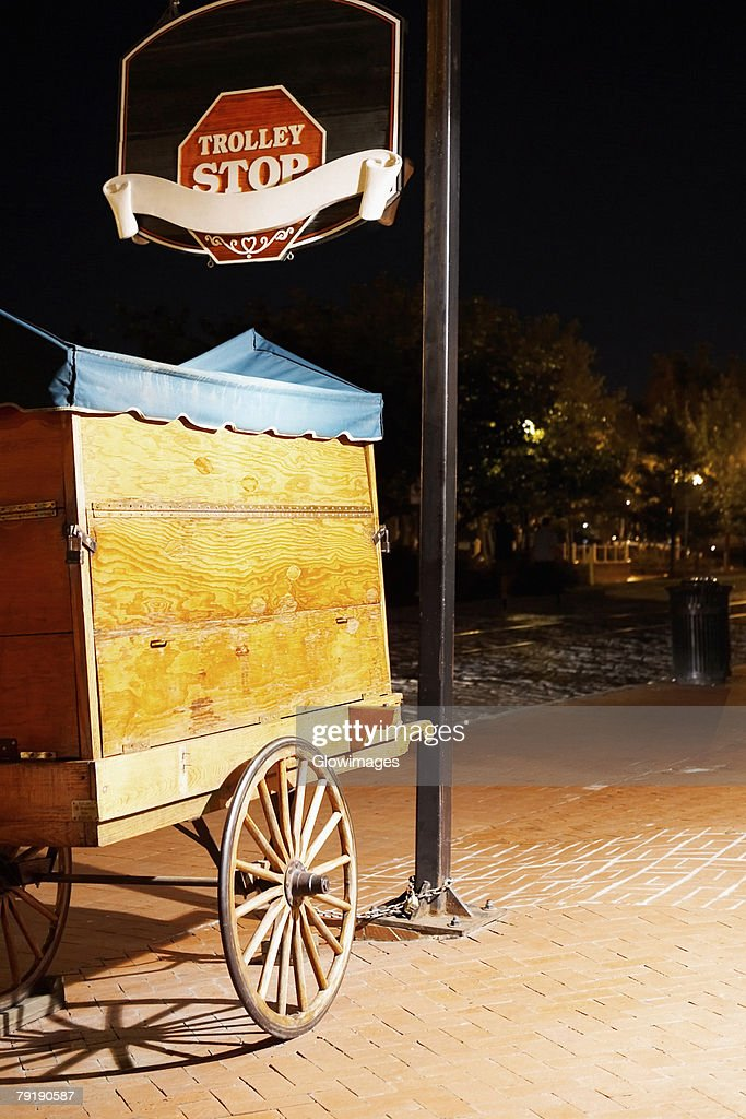 Cart on a walkway, Savannah, Georgia, USA : Foto de stock