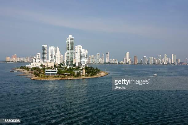 Cartagena de Indias, Colombia desde la bahía