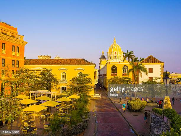 Cartagena historical district in Colombia