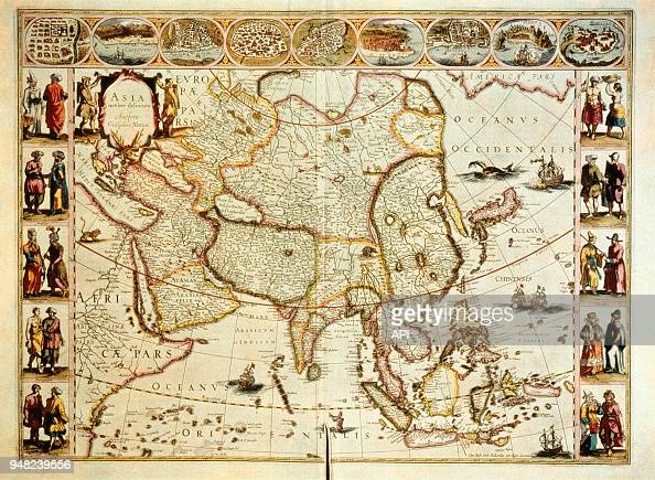 Carte De Lasie.Carte De L Asie Par Le Cartographiste Neerlandais De Willem