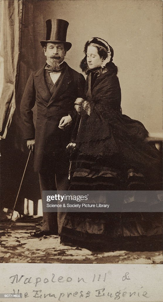 Napoleon III And The Empress Eugenie Of France C 1865 News Photo