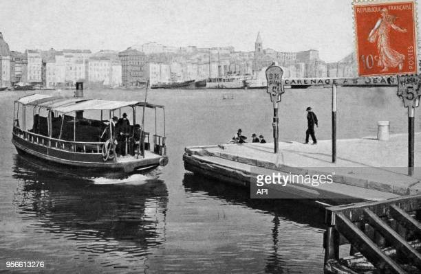 Carte postal ancienne représentant le Vieux Port circa 1900 à Marseille France