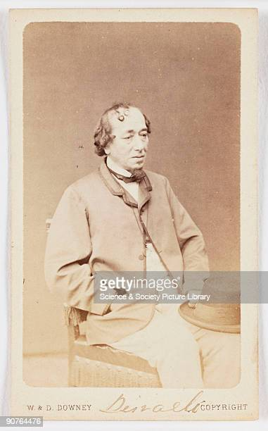 A Carte De Visite Portrait Of Benjamin Disraeli Taken At The News Photo