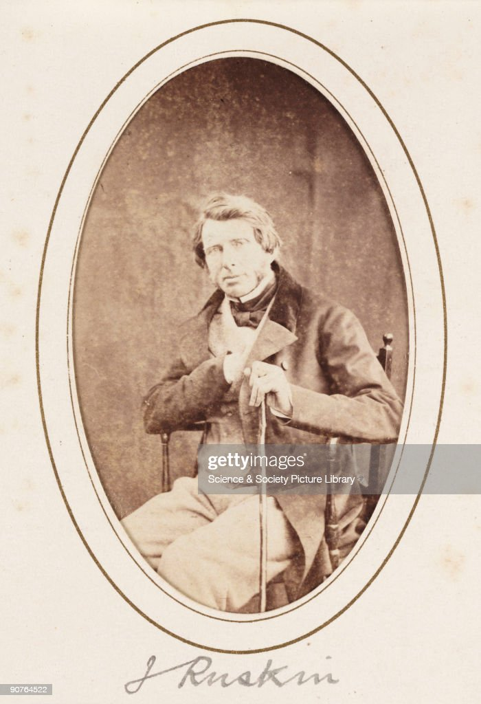 A Carte De Visite Portrait Of English Critic And Social Theorist John Ruskin