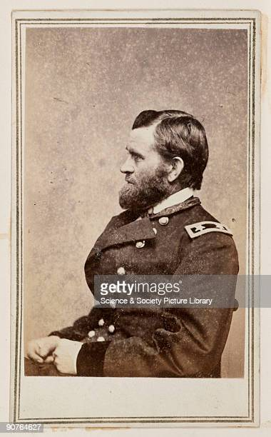 A cartedevisite portrait of General Ulysses Simpson Grant Commander in Chief of the Union army during the American Civil War and 18th president of...