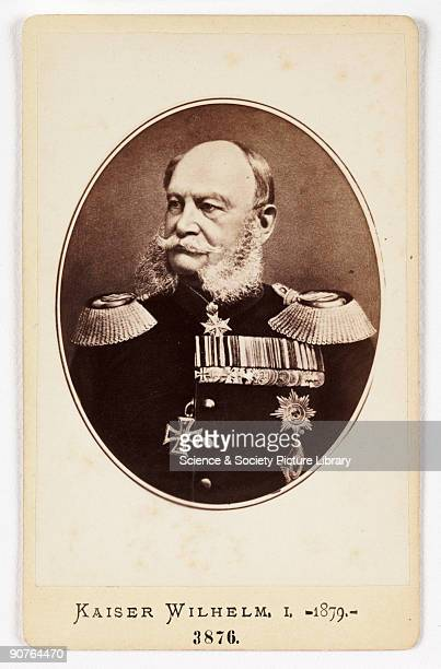A cartedevisite portrait of Kaiser Wilhelm I of Germany taken by an unknown photographer in about 1880 A cartedevisite is a photograph mounted on a...