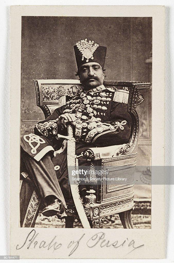 Shah of Persia, c 1875. : News Photo