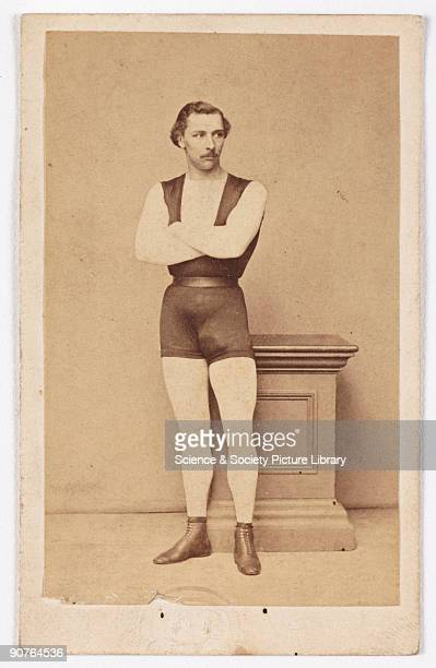 A cartedevisite portrait of the French acrobat Jules Léotard taken by an unknown photographer in about 1865 A cartedevisite is a photograph mounted...
