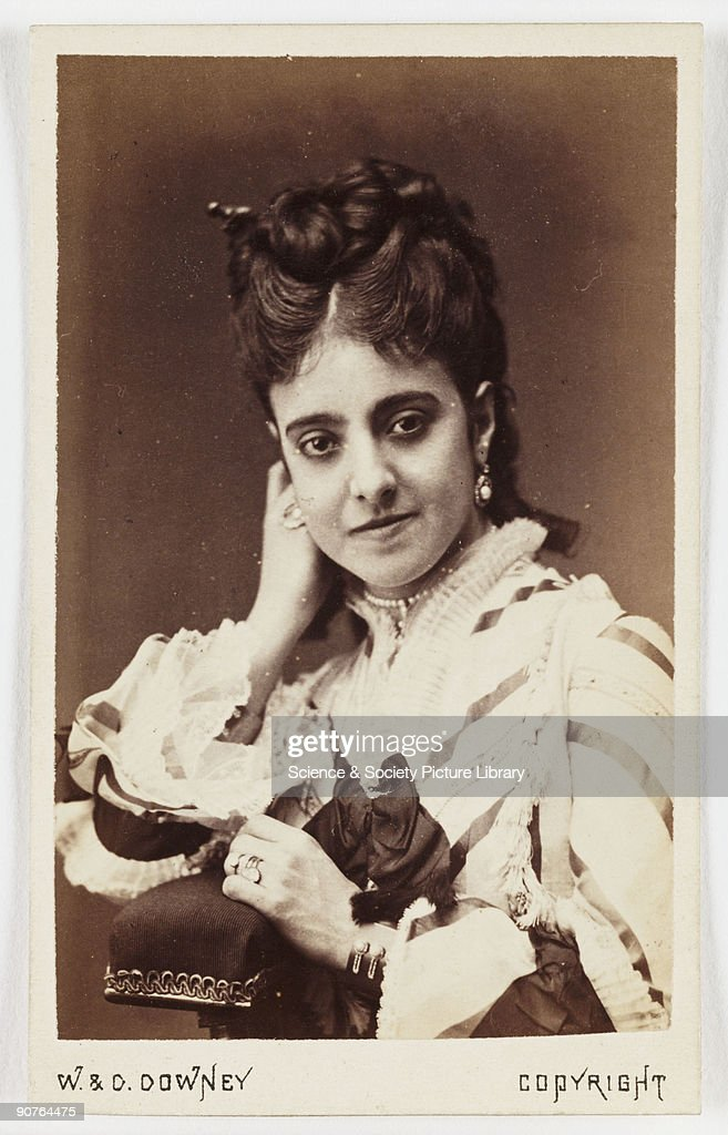 A Carte De Visite Portrait Of The Opera Singer Adelina Patti Taken