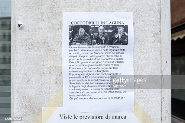 A cartel against the Mafia and the corruption of the state on the management and construction of the Mose system Venice Italy November 16 2019
