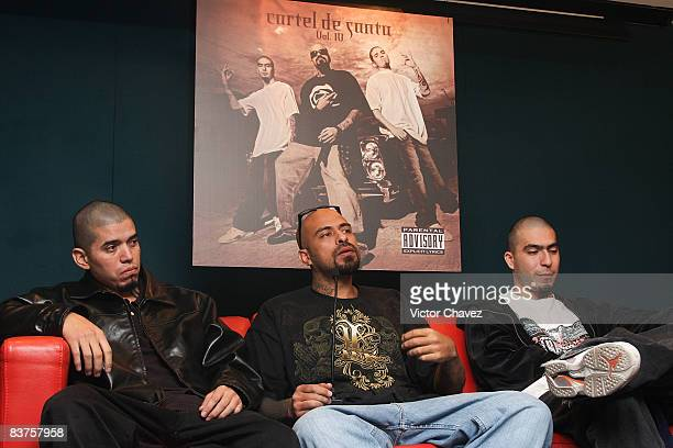Cartel De Santa attends the launch of their new album 'Vol 4' at Auditorio Sony Music on November 19 2008 in Mexico City Mexico