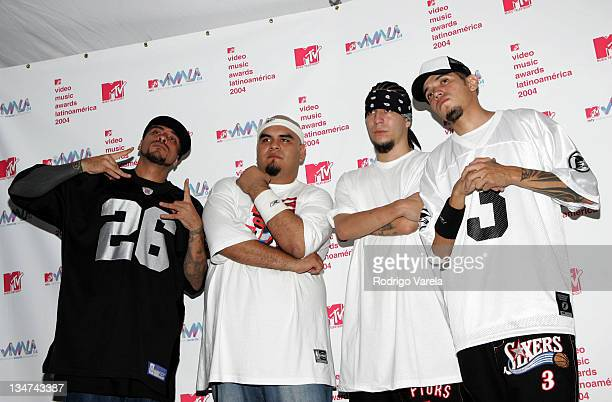 Cartel de Santa during MTV Video Music Awards Latin America 2004 Press Room at Jackie Gleason Theater in Miami Florida United States