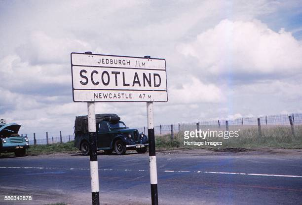 Carter Bar on A68 the border with Scotland c1960 Carter Bar is a point on the EnglandScotland border on the A68 a popular scenic route between...