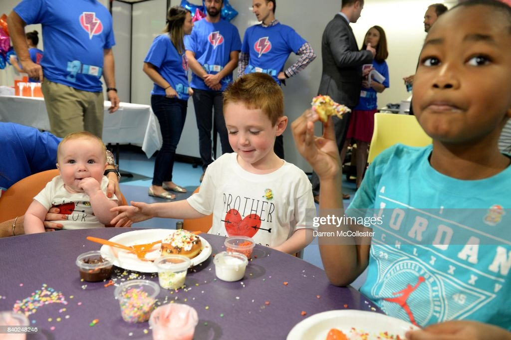 Boston Celtic Jayson Tatum Delivers Brave Gowns to Patients at Boston Children's Hospital with Joy in Childhood Foundation : News Photo