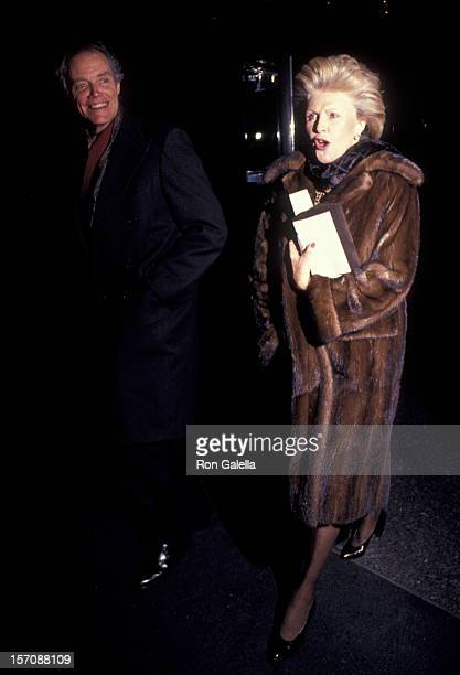 J Carter Brown and Pamela Harriman attend 20th Annual Theater Hall of Fame Awards on February 11 1991 at the Gershwin Theater in New York City