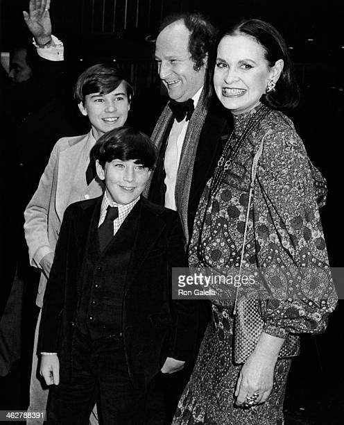 "Carter Cooper, Anderson Cooper, Bobby Zarem and Gloria Vanderbilt attend the premiere of ""Manhattan"" on April 18, 1979 at the Ziegfeld Theater in New..."