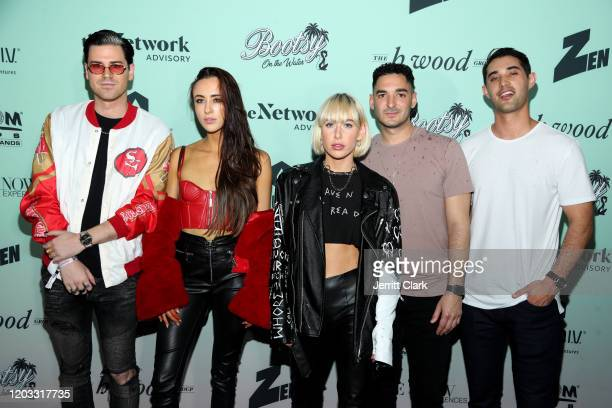 Carter Cruise Natalie Bauman Spencer Stumbaugh Steven Borrelli Brennan Eccles attend Bootsy On The Water Miami Takeover 2020 on January 31 2020 in...