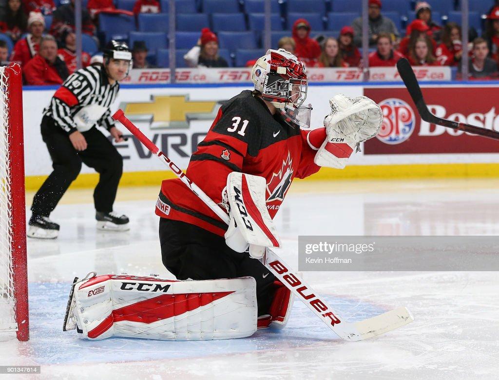 Canada v Czech Republic: Semifinals - 2018 IIHF World Junior Championship : News Photo