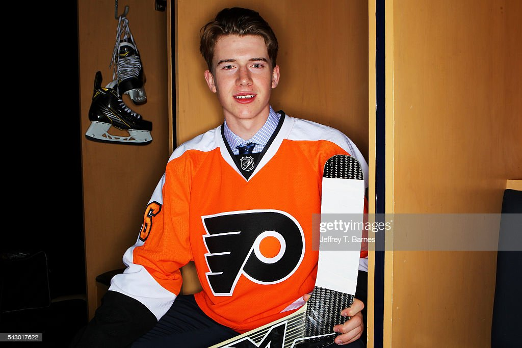 Carter Hart poses for a portrait after being selected 48th overall by the Philidelphia Flyers during the 2016 NHL Draft on June 25, 2016 in Buffalo, New York.