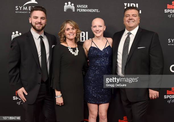 Carter Hayes Jill Hayes Leah Hayes and Tim Hayes attend the Sports Illustrated Sportsperson Of The Year Awards at The Beverly Hilton Hotel on...