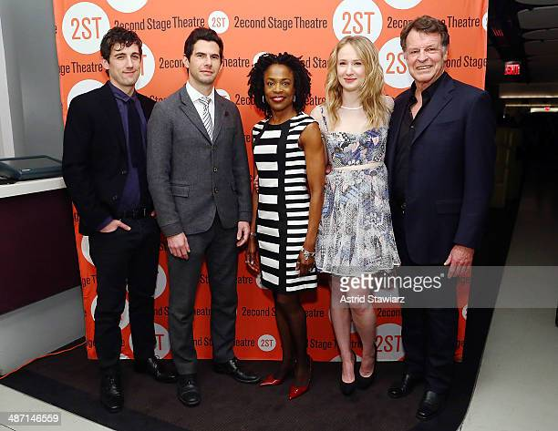 Carter Hudson Daniel Eric Gold Charlayne Woodard Halley Feiffer and John Noble attend the after party for 'The Substance Of Fire' opening night at...