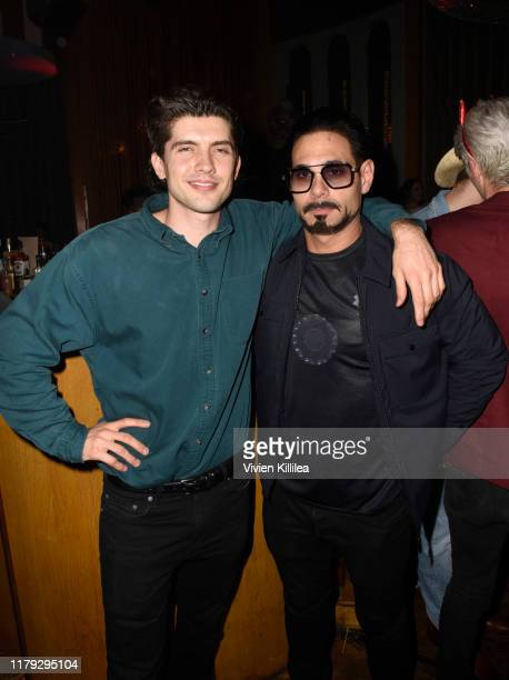 Carter Jenkins and Eric Podwall attend Podwall Entertainment's 10th Annual Halloween Party presented by Maker's Mark on October 31 2019 in West...
