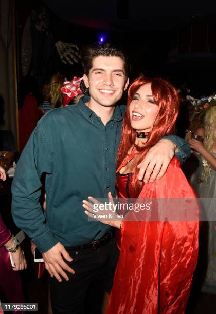 Carter Jenkins and Sierra Swartz attend Podwall Entertainment's 10th Annual Halloween Party presented by Maker's Mark on October 31 2019 in West...