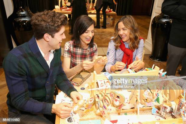Carter Jenkins Perrey Reeves and Georgie Flores attend the Brooks Brothers holiday celebration with St Jude Children's Research Hospital at Brooks...