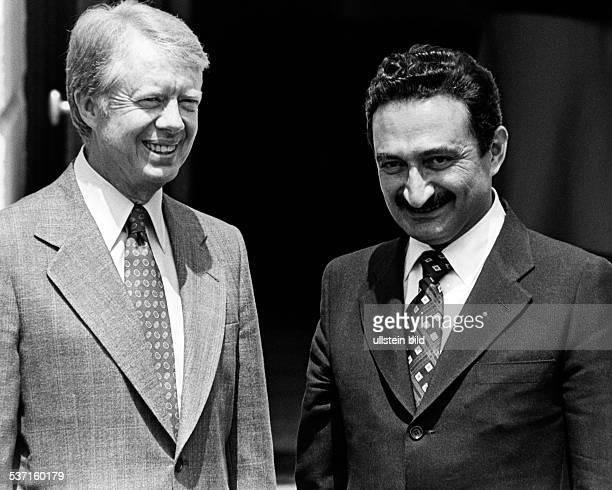 Carter Jimmy Politiker USA Praesident 19771981 Friedensnobelpreis 2002 mit dem tuerkischen Ministerpraesidenten Buelent Ecevit 1978
