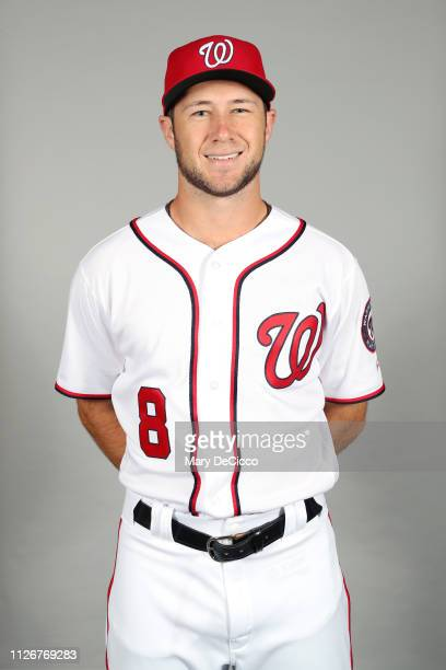 Carter Kieboom of the Washington Nationals poses during Photo Day on Friday February 22 2019 at the FITTEAM Ballpark of the Palm Beaches in West Palm...