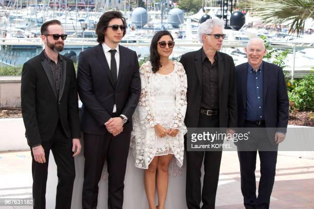 Carter Logan Adam Driver Golshifteh Farahani director Jim Jarmusch and Joshua Astrachan attend the 'Paterson' photocall during the 69th annual Cannes...
