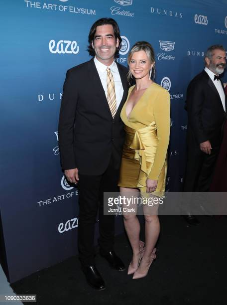 Carter Oosterhouse and Amy Smart attend The Art Of Elysium's 12th Annual Celebration Heaven Arrivals on January 05 2019 in Los Angeles California