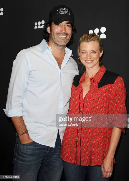 Carter Oosterhouse and Amy Smart attend the Myspace artist showcase event at El Rey Theatre on June 12 2013 in Los Angeles California