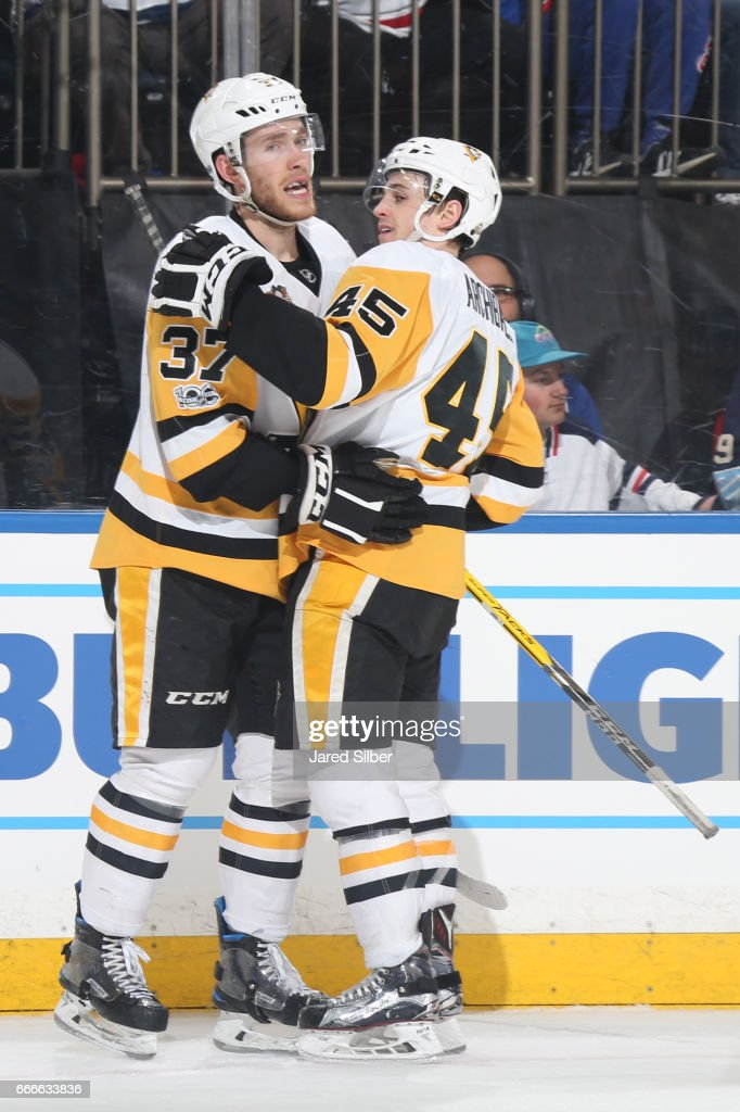 reputable site 4d3fe a8ccc Carter Rowney and Josh Archibald of the Pittsburgh Penguins ...