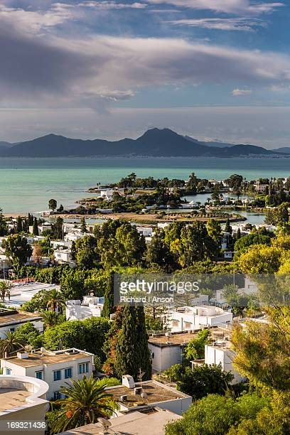 carthage, punic ports & gulf of tunis - tunis stock pictures, royalty-free photos & images
