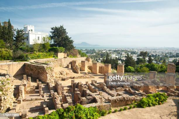 CONTENT] Carthage Tunisia Jan 2013 Carthage's Punic Quarter ruins on Byrsa Hill overlooking Bay of Carthage Byrsa was the walled citadel above the...