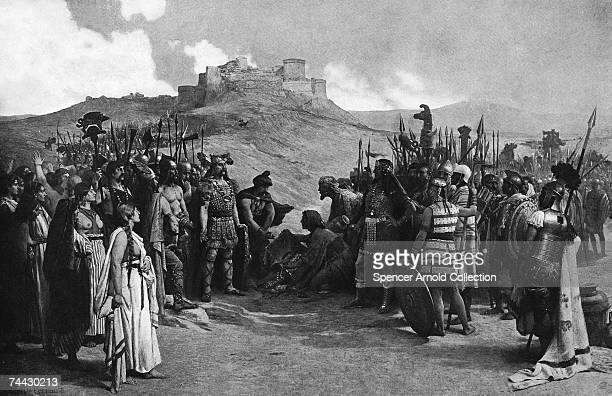 Carthaginian general Hannibal meets a gathering of Gaulish chieftains at Ruscino to request safe passage through their country en route to Italy...