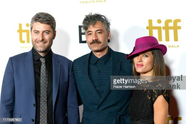 Carthew Neal Chelsea Winstanley and Taika Waititi attend the 2019 Toronto International Film Festival TIFF Tribute Gala at The Fairmont Royal York...