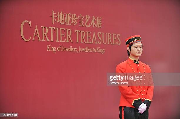 Cartier Boy at the opening of the 'Cartier Treasures' exhibition at the Forbidden City September 4 2009 in Beijing China